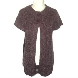 💎 Sonoma chunky cable knit short sleeve cardigan